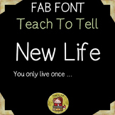 FONT FOR COMMERCIAL USE {TEACHTOTELL NEW LIFE} HANDWRITING FONT