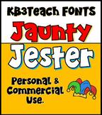 FONTS: KB3 Jaunty Jester 4-Font Set (Personal & Commercial Use)