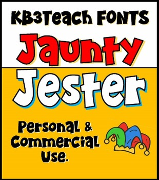 FONTS: KB3 Jaunty Jester 4-Font Set (Personal & Commercial Use)