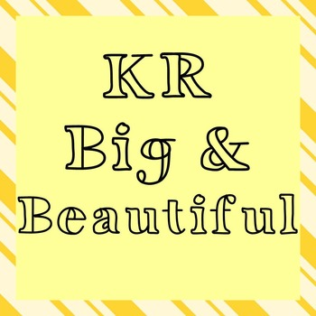 FONT - KR Big And Beautiful (Commercial & Personal Use)