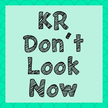 FONT - KR Don't Look Now (Commercial & Personal Use)