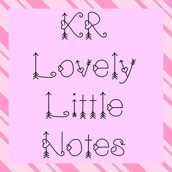 FONT - KR Lovely Little Notes (Commercial & Personal Use)