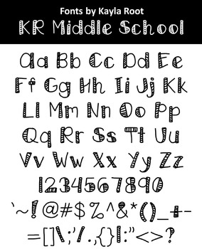 FONT - KR Middle School (Commercial & Personal Use)