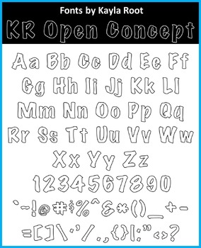 FONT - KR Open Concept (Commercial & Personal Use)