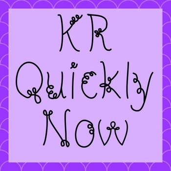 FONT - KR Quickly Now (Commercial & Personal Use)