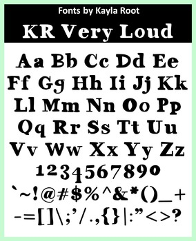 FONT - KR Very Loud (Commercial & Personal Use)