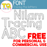 FONT - Nilam Tracing ABC - Free for Personal and Commercial Use