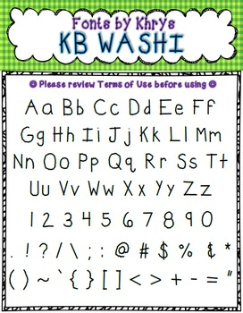 FONT - Personal or Commercial Use: KB Washi