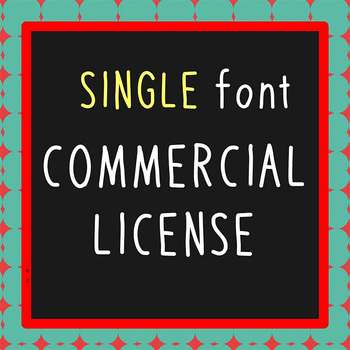 FONT - Single Font Commercial License