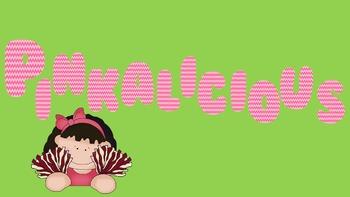 FONTS - Pretty Pink Chevron Font