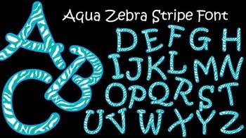 FONTS - Aqua Zebra Stripe Font