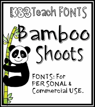 FONTS: KB3 Panda Pet 2-Font Set (Personal & Commercial Use)