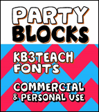FONTS: KB3 BOLD FONTS PACK#2 (Party Blocks / 6-Font Set)