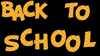 FONTS - Back to School - Orange pattern