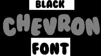 FONTS - Black Chevron Font
