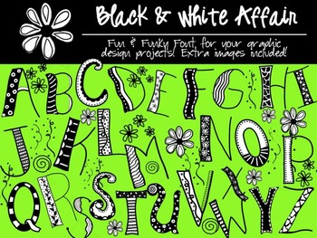 FREEBIE FONTS - Black & White Affair - Personal & Commercial use