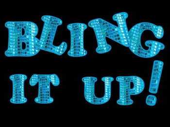 FONTS - Bling It Up BLUE!