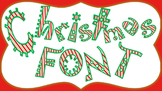 FONTS - Candy Cane Holiday  Lettering - Personal and Commercial Use