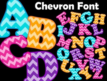 FONTS - Chevron Pattern - Personal & Commercial use
