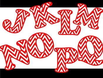 FONTS - Chevron - Red & White - Personal & Commercial use