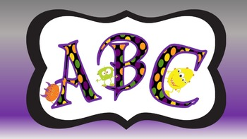 FONTS - Colorful MONSTER Lettering - Personal and Commercial Use