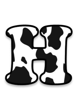 FONTS - Cowhide Pattern - Personal & Commercial use
