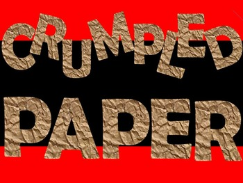 FONTS - Crumpled Paper Font - Personal and Commercial use