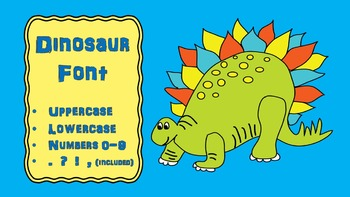FONTS - DINOSAUR Lettering - Personal and Commercial Use