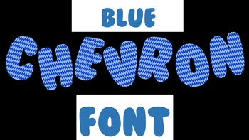 FONTS - Dark Blue Chevron Font