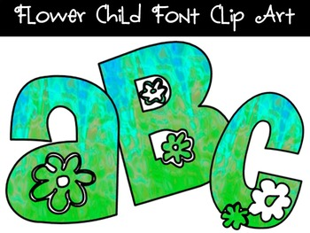 FONTS - Flower Child Blues - Personal and Commercial Use