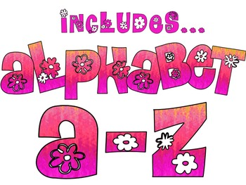 FONTS - Flower Child Pinks - Personal and Commercial Use
