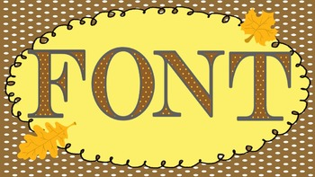 FONTS - Fun  FALL POLKA DOT Lettering - Personal and Comme