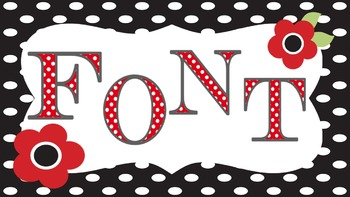 FONTS - Fun POLKA DOT Lettering - Personal and Commercial Use by Mrs Finn
