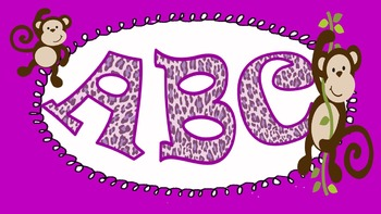 FONTS - Fun Purple Leopard Lettering - Personal and Commercial Use