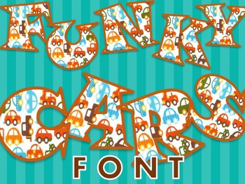 FONTS - Funky Cars - Personal & Commercial use