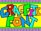 FONTS - Graffiti Colors - Hand Illustrated Font - Personal & Commercial Use