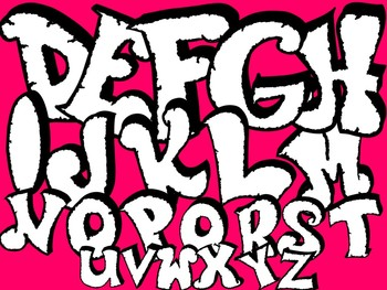 FONTS - Graffiti Font3 - CHISELED!  Personal & Commercial Use