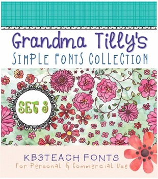 FONTS: KB3 Grandma Tilly's Simple Fonts Collection SET#3