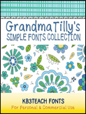 FONTS: KB3 Grandma Tilly's Simple Fonts Collection SET #1