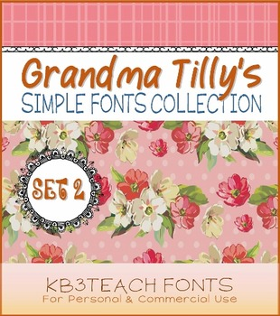 FONTS: KB3 Grandma Tilly's Simple Fonts Collection SET#2