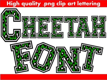 FONTS - Green Cheetah Print - Commercial & Personal use