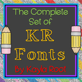 FONTS - *Growing* Complete Set of KR Fonts (Commercial & Personal Use)