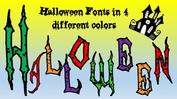 FONTS - Halloween Lettering - Personal and Commercial Use