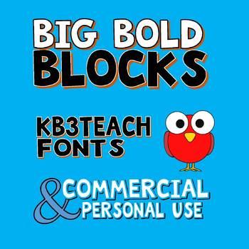 FONTS:  KB3 BOLD FONTS PACK#1 (6-Font Set) Personal & Commercial Use