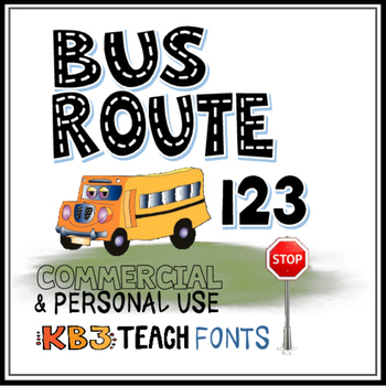 FONTS:  KB3 Alpha Highway 4-Font Set (Personal & Commercial Use)