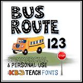 1FONTS:  KB3 Alpha Highway 4-Font Set (Personal & Commercial Use)