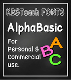 FONTS: KB3 AlphaBasic 8-Font Set (Personal & Commercial Use)