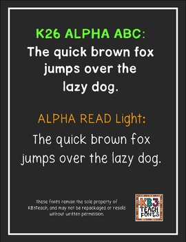 FONTS: KB3 AlphaBasic 8-Font Set (Personal & Commercial Use)