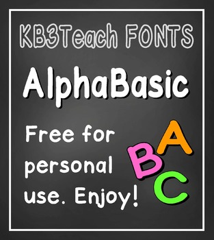 FREE FONTS: KB3 AlphaBasic 8-Font Set (Personal Use)