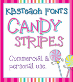 FONTS: KB3 Candy Stripes 5-Font Set (Commercial Use)